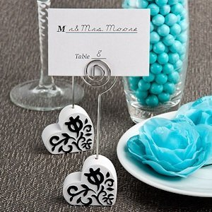 Heart Design Wire Place Card Holders image