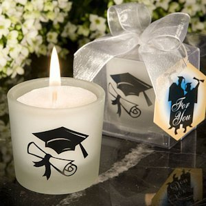 Graduation Themed Candle Favors image