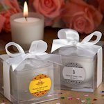 Anniversary Personalized Candle Favors (25th- 40th- 50th)