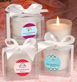 Personalized Bridal Shower Candle Favors image