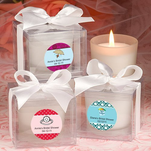 Average Price Of Wedding Gift: Personalized Bridal Shower Candle Favors