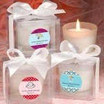 Personalized Bridal Shower Candle Favors