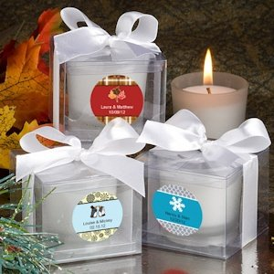 Seasonal Personalized Candle Favors image