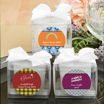 Personalized Prom Design Candle Favors image