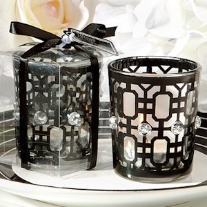Black Accented Candle Holder image