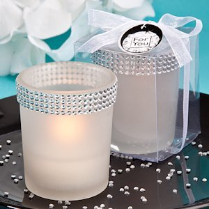 Bling Collection White Candle Holders image
