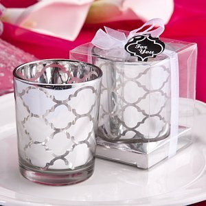 Hampton Links Silver Votive Candle Wedding Favors image