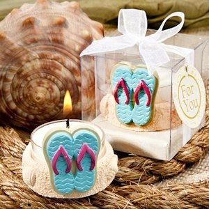 Beach Themed Candle Favors image