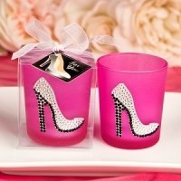 Hot Pink High Heel Shoe Votive Candle Holder