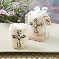 Cross Design Tea Light Candle Holder