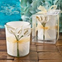 Gold Calla Lily Design Votive Candle Holder Favors
