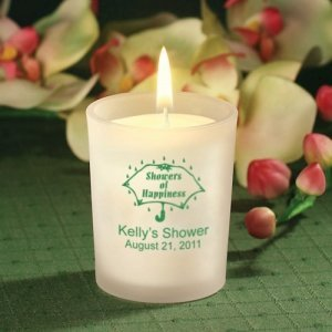 Personalized Candle Bridal Shower Favors image