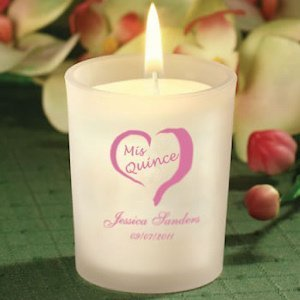 Personalized Quinceanera Party Favor Candles image