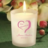 Personalized Quinceanera Party Favor Candles