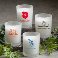 Personalized Frosted Glass Candle Wedding Favor (50 Designs)