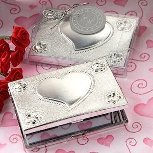 Heart Design Compact Mirror Favors image