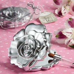 Realistic Rose Design Mirror Compacts image