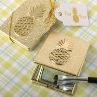 Pineapple Themed Compact Mirror Favors