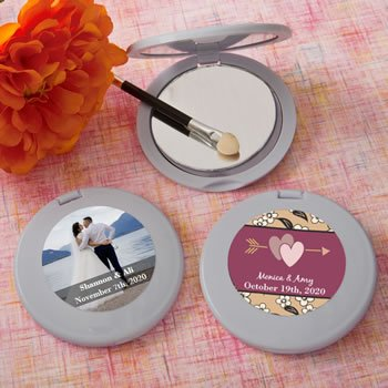 Personalized Expressions Collection silver Mirror Compact Fa image