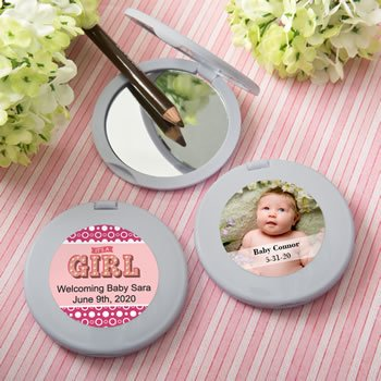Personalized Expressions Collection silver Compact mirror  - image