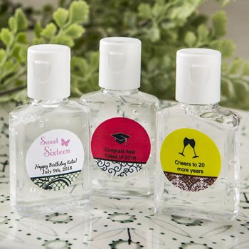 Personalized expressions hand sanitizers favors 30 ml size image