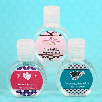 Personalized expressions hand sanitizer favor image