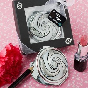 Murano Glass Swirl Design Compact Mirror Favors image