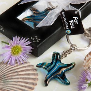 Murano Glass Collection Starfish Key Chain image