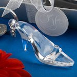 Cinderella 'Glass' Slipper Favor Key Chains