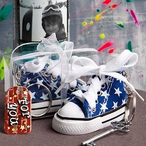 Oh-So-Cute Blue Star Sneaker Keychain image