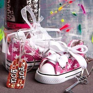 Oh-So-Cute Pink Star Sneaker Keychain image
