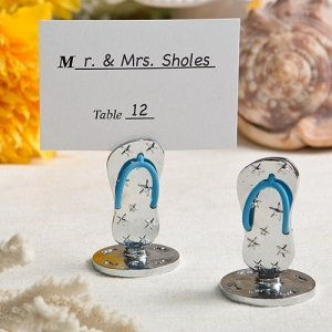 Flip Flop Theme Metal Placecard Holders image
