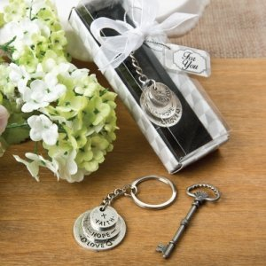 Love Hope and Faith Stacked Disc Key Chain Favors image