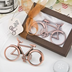 Vintage Bicycle Design Antique Copper Bottle Opener image