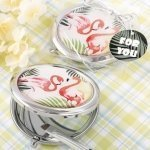 Flamingo Metal Compact Mirror Favors