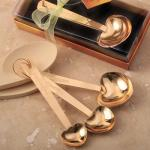 Love beyond Measure Gold Heart Measuring Spoon Set