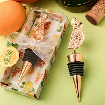 Citrus Design Tropical Summer Bottle Stopper Favor image