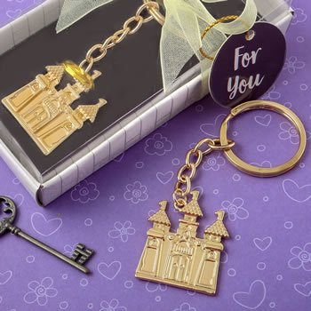Gold Castle Design Key Chain Favors image