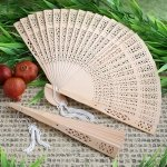 Wooden Fans - Sandalwood Hand Fan Favors