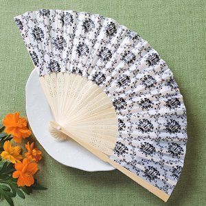 Elegant Silk Fans with Damask Design image