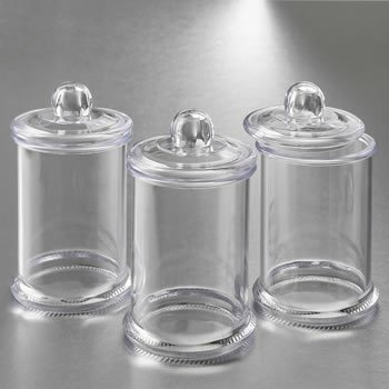 Perfectly Plain Clear Acrylic Apothecary Jar with Lid image