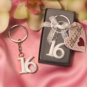 Sweet 16 Party Favor Keyrings image