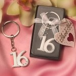Sweet 16 Party Favor Keyrings