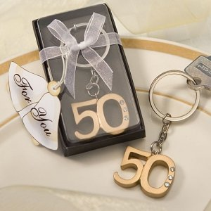 50th Wedding Anniversary Party Favor Keychains image