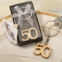 50th Wedding Anniversary Party Favor Keychains