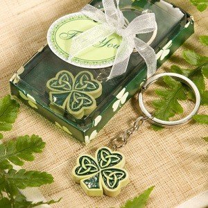 Shamrock with Trinity Love Knot Key Chain Favors image