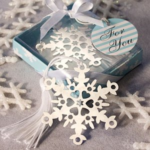 Gift Boxed Snowflake Bookmark Favors image