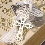 Silver Cross Bookmark Favors