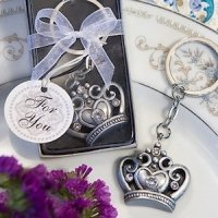 Majestic Crown Keyring Favors
