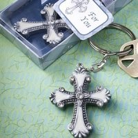 Keychain Favors with Cross Charm